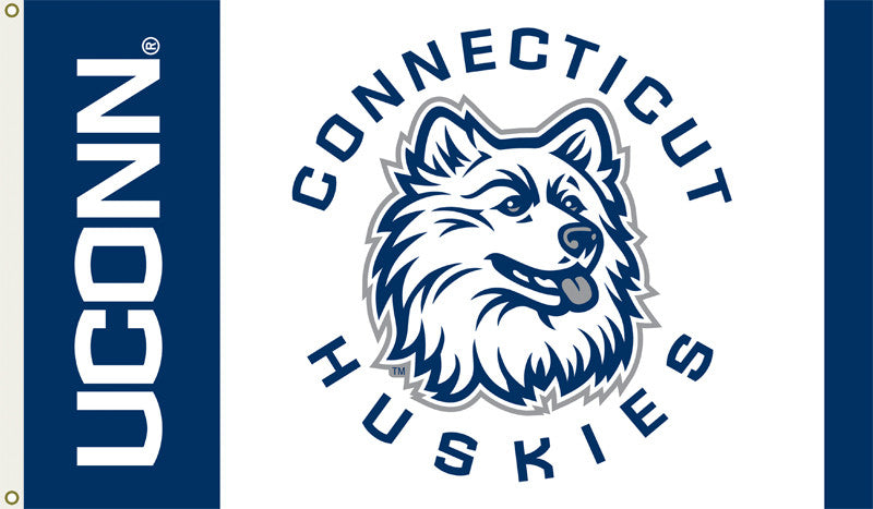 Officially Licensed Connecticut Huskies  3' x 5' Flags - ColorFastFlags | All the flags you'll ever need!