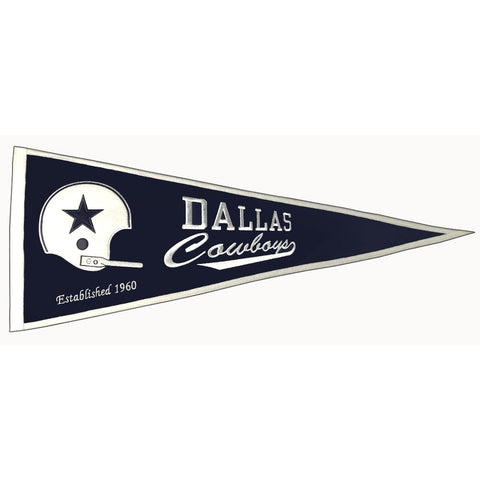 "Dallas Cowboys Felt Pennant 13"" x 32"" - ColorFastFlags 