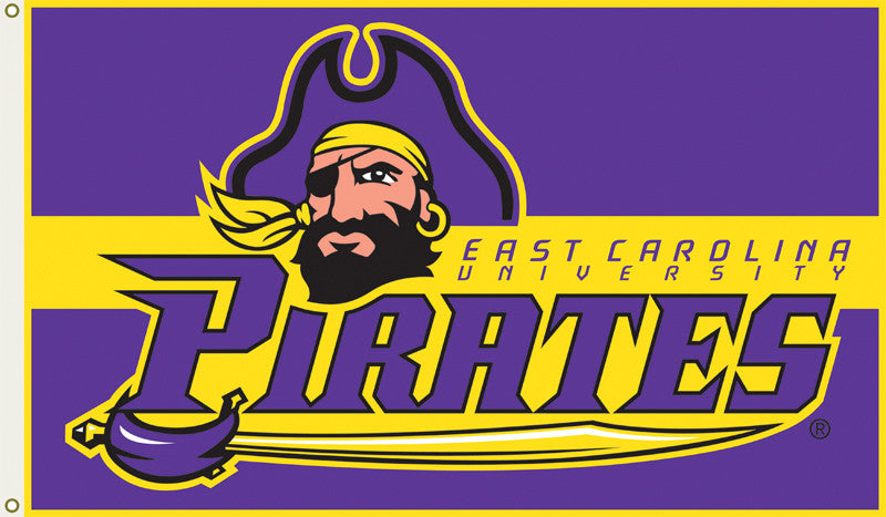 Officially Licensed East Carolina Pirates  3' x 5' Flags - ColorFastFlags | All the flags you'll ever need!