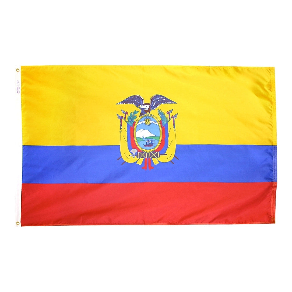 Ecuador Government Flag - ColorFastFlags | All the flags you'll ever need!