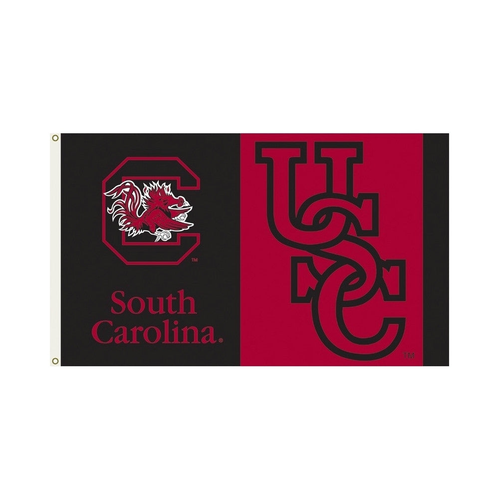 Officially Licensed South Carolina Gamecocks 3' x 5' Flags - ColorFastFlags | All the flags you'll ever need!