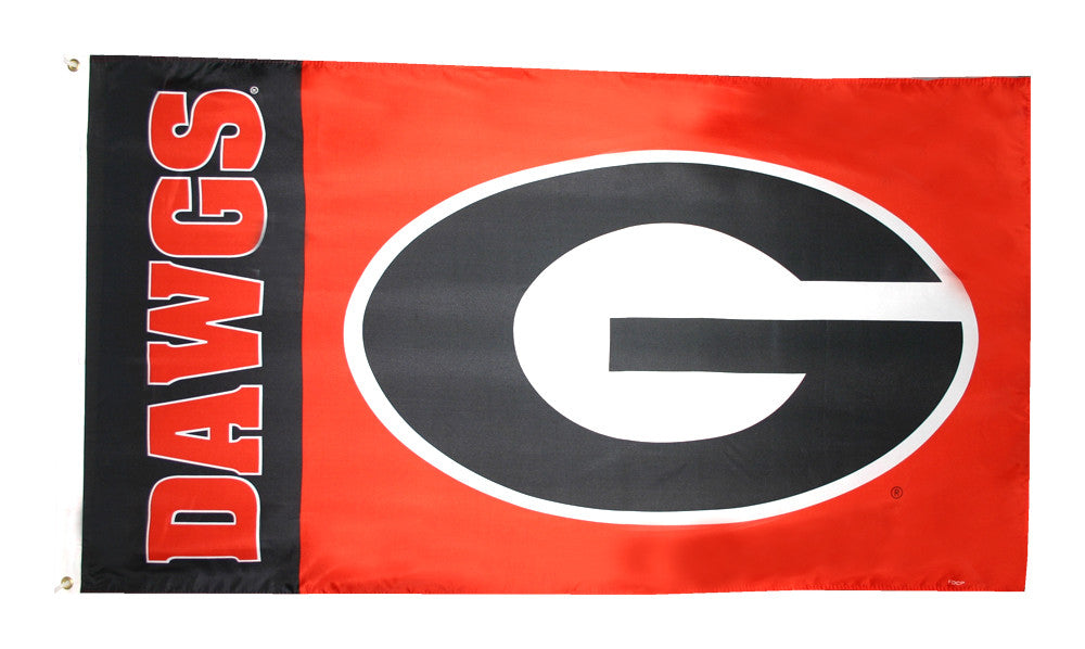 Officially Licensed Georgia Dawgs Flag 3' x 5' Flag - ColorFastFlags | All the flags you'll ever need!