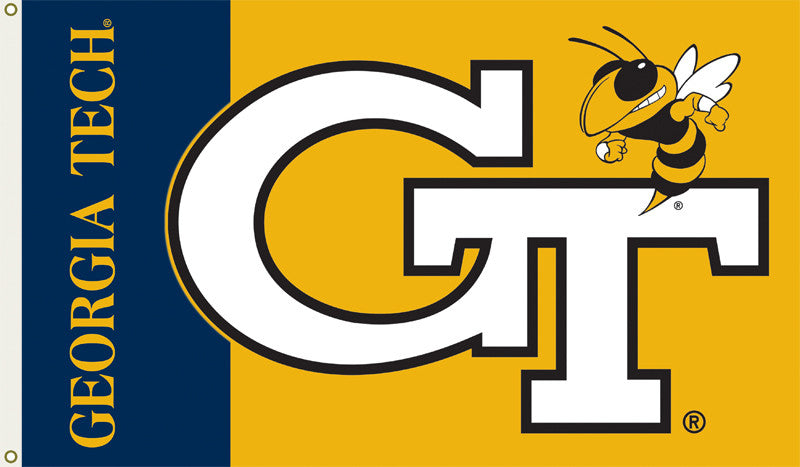 Officially Licensed Georgia Tech Yellow Jackets  3' x 5' Flags - ColorFastFlags | All the flags you'll ever need!