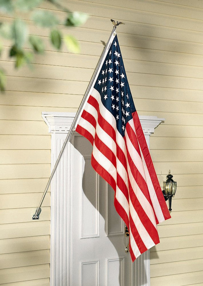 Homeowners 3' x 5' Nylon American Flag Display Set - ColorFastFlags | All the flags you'll ever need!