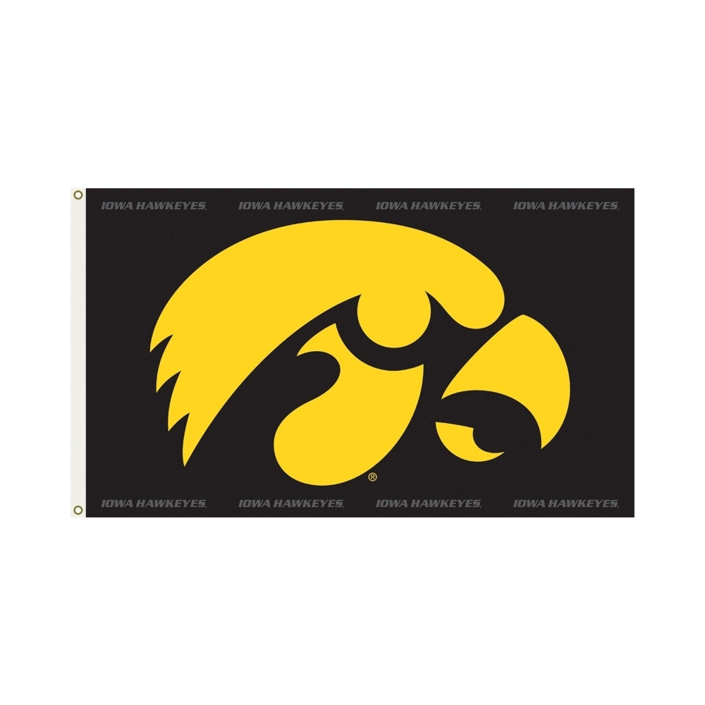 Officially Licensed Iowa Hawkeyes 3' x 5' Flags - ColorFastFlags | All the flags you'll ever need!