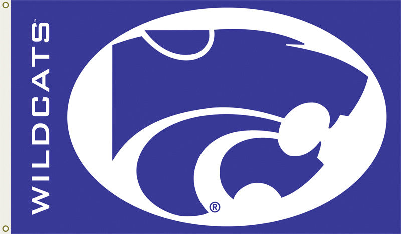 Officially Licensed Kansas State Wildcats 3' x 5' Flags - ColorFastFlags | All the flags you'll ever need!