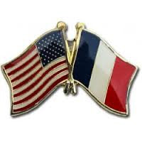 France/United States Friendship Lapel Pin - ColorFastFlags | All the flags you'll ever need!