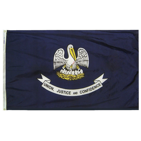 "Louisiana Courtesy Flag 12"" x 18"" - ColorFastFlags 