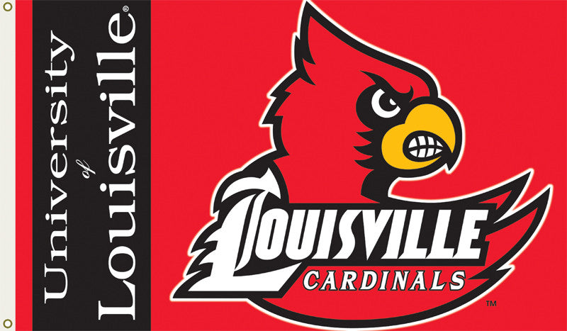 Officially Licensed Louisville Cardinals 3' x 5' Flags - ColorFastFlags | All the flags you'll ever need!