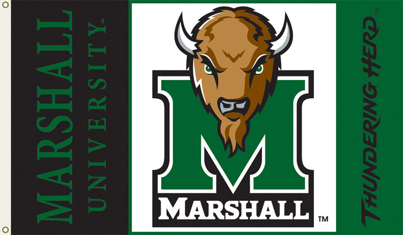 Officially Licensed Marshall Thundering Herd 3' x 5' Flags - ColorFastFlags | All the flags you'll ever need!