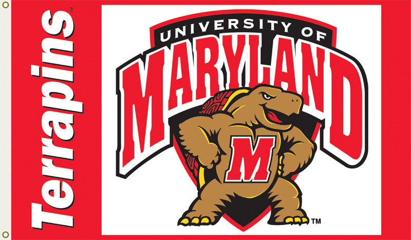 Officially Licensed University of Maryland Terrapins 3' x 5' Flags - ColorFastFlags | All the flags you'll ever need!