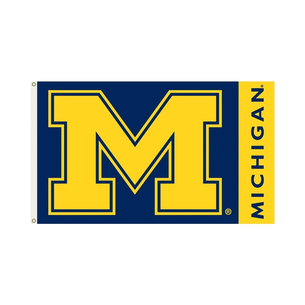 Officially Licensed University Of Michigan 3' x 5' Flags - ColorFastFlags | All the flags you'll ever need!