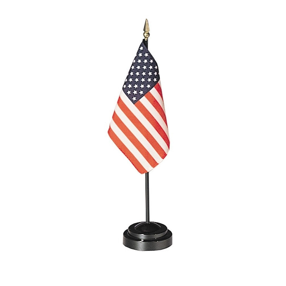 Miniature Set with U.S. Flag and Black Plastic Base - ColorFastFlags | All the flags you'll ever need!