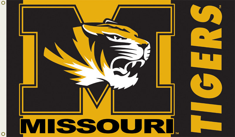 Officially Licensed Missouri Tigers 3' x 5' Flags - ColorFastFlags | All the flags you'll ever need!