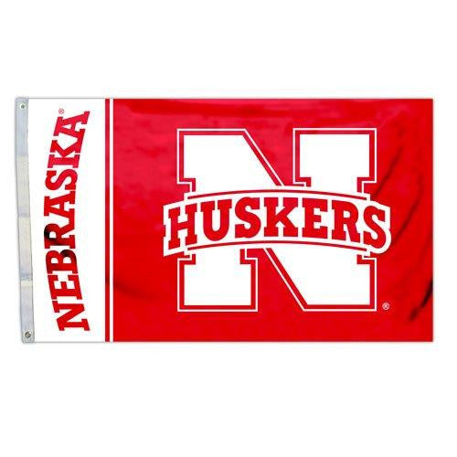 Officially Licensed Nebraska Huskers 3' x 5' Flags - ColorFastFlags | All the flags you'll ever need!