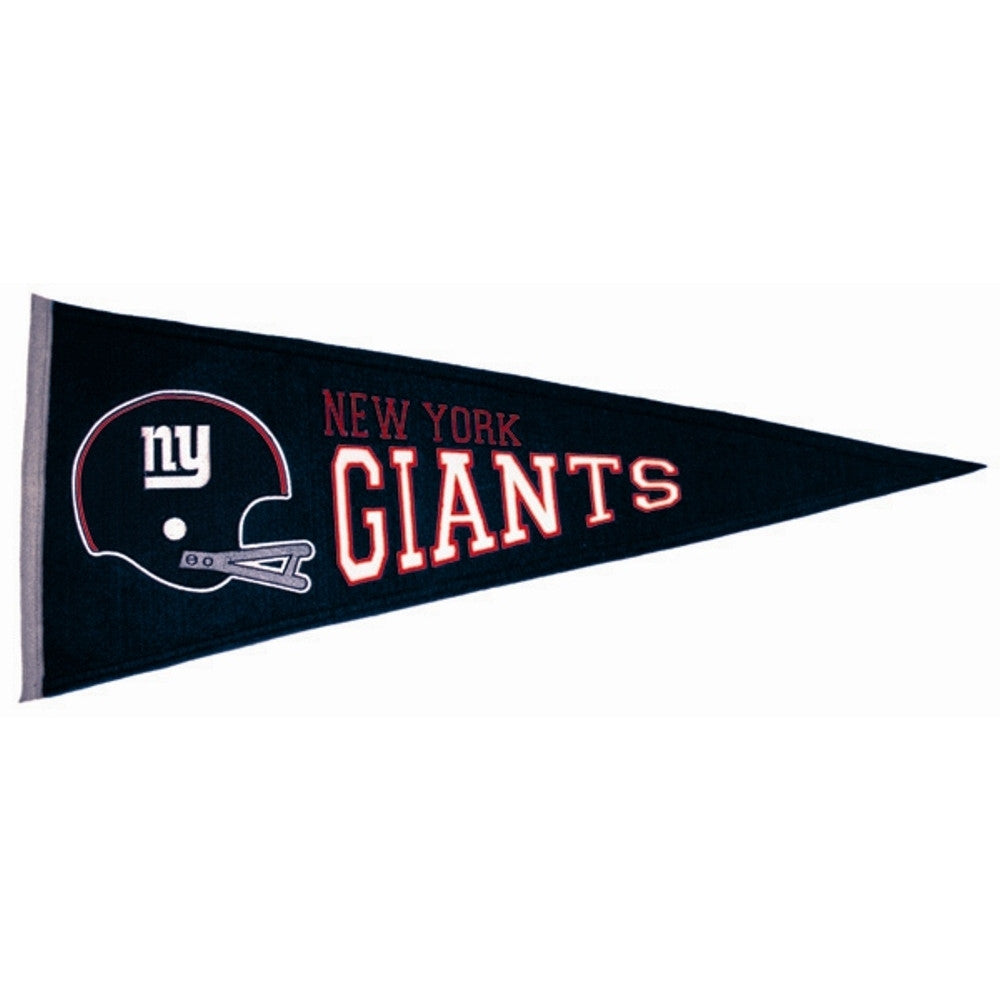 "New York Giants Felt Pennant 13"" x 32"" - ColorFastFlags 