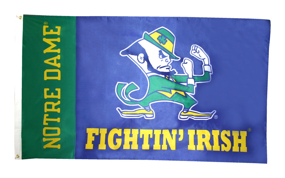 Officially Licensed Notre Dame Fighting Irish Flag 3' x 5' - ColorFastFlags | All the flags you'll ever need!