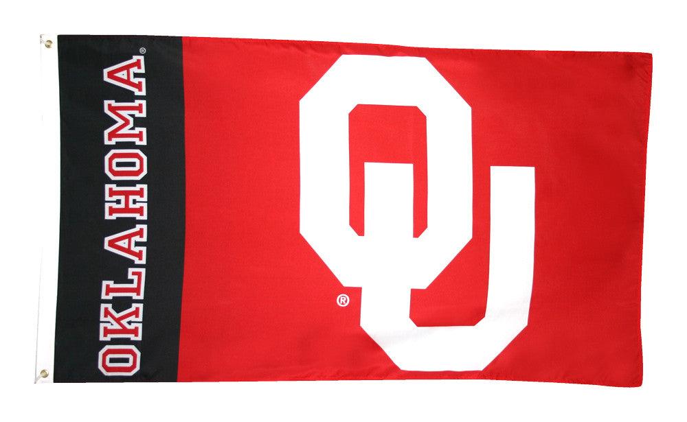 Officially Licensed Oklahoma Sooners 3' x 5' Flags - ColorFastFlags | All the flags you'll ever need!
