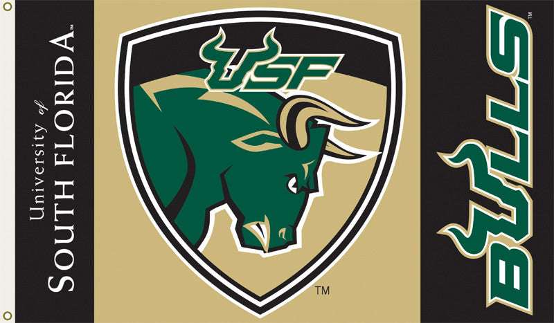 Officially Licensed South Florida University Bulls 3' x 5' Flags - ColorFastFlags | All the flags you'll ever need!