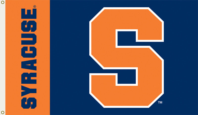 Officially Licensed Syracuse Orange 3' x 5' Flags - ColorFastFlags | All the flags you'll ever need!