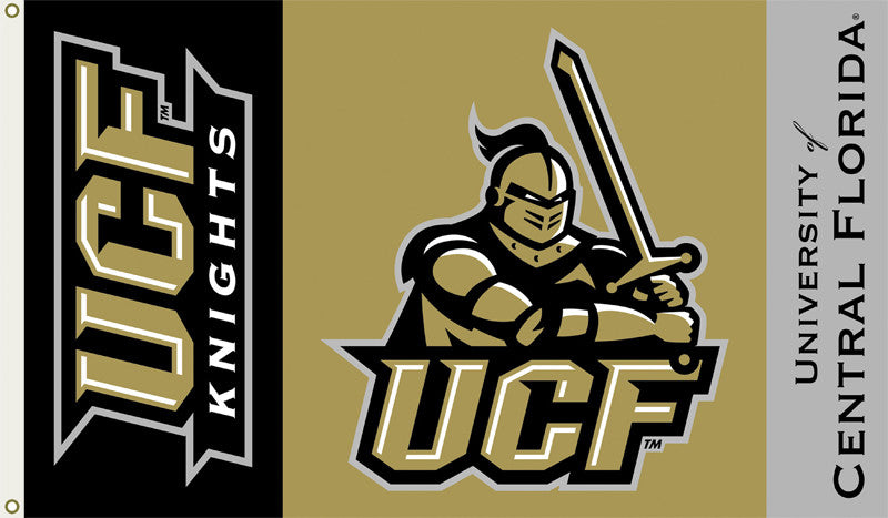 Officially Licensed Central Florida Golden Knights 3' x 5' Flags - ColorFastFlags | All the flags you'll ever need!