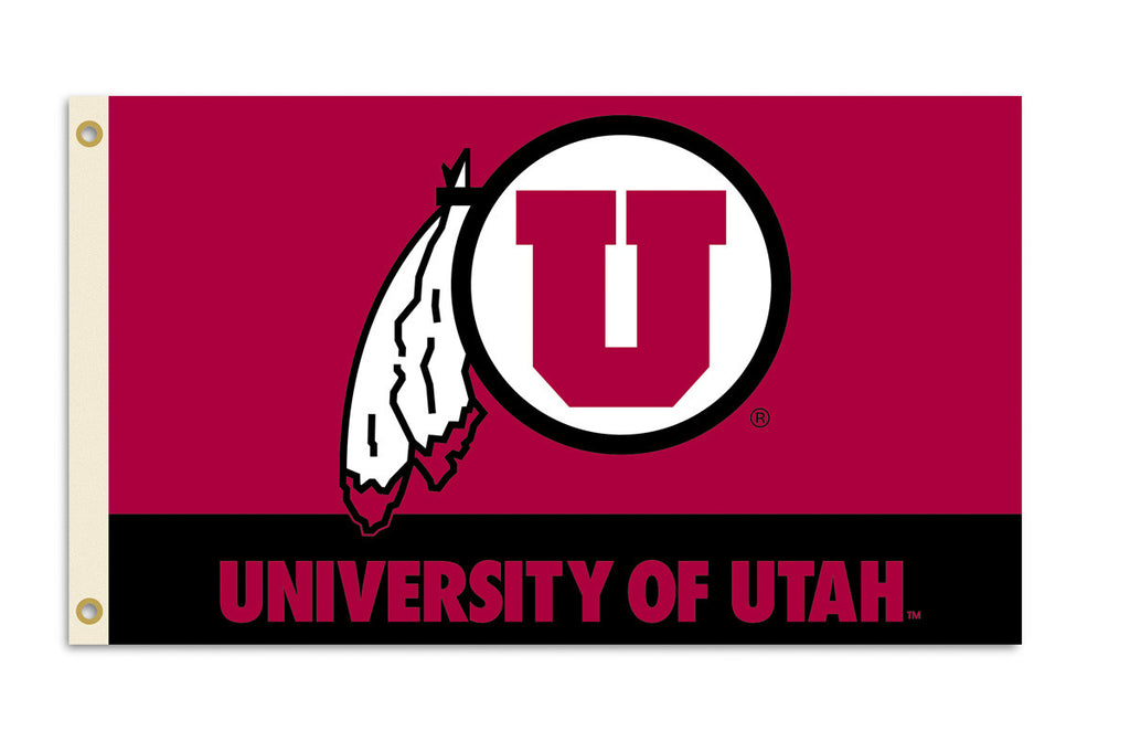 Officially Licensed Utah Utes 3' x 5' Flags - ColorFastFlags | All the flags you'll ever need!