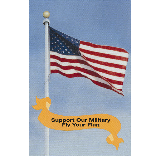 Support Our Military Postcard - ColorFastFlags | All the flags you'll ever need!