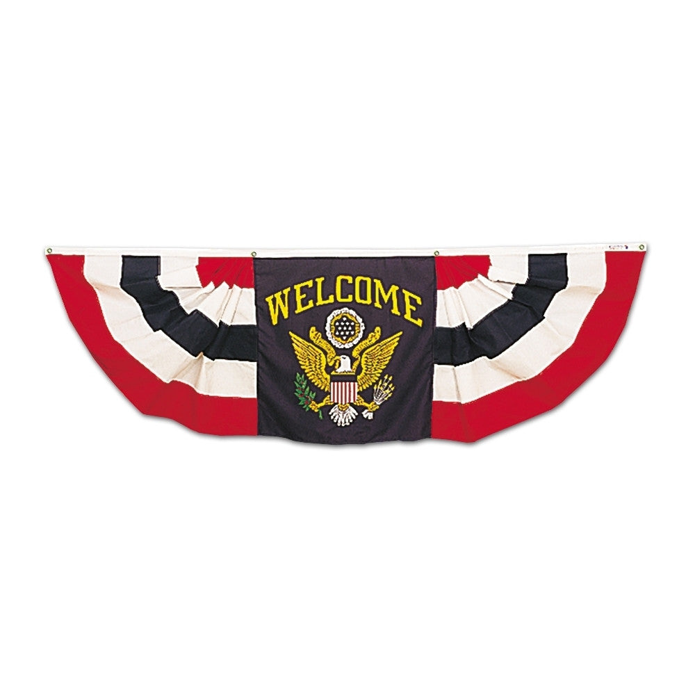 Welcome Bunting with Eagle Center - ColorFastFlags | All the flags you'll ever need!