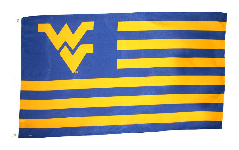 Officially Licensed University Of West Virginia 3' x 5' Flags - ColorFastFlags | All the flags you'll ever need!