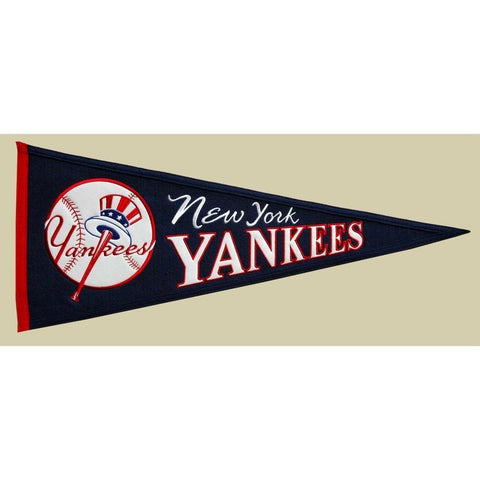 "New York Yankees Felt Pennant 13"" x 32"" - ColorFastFlags 