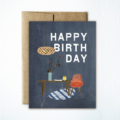 Chair birthday card - Ferme à Papier