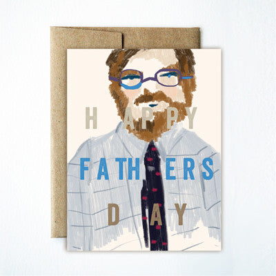 Beard glasses father's day card - Ferme à Papier