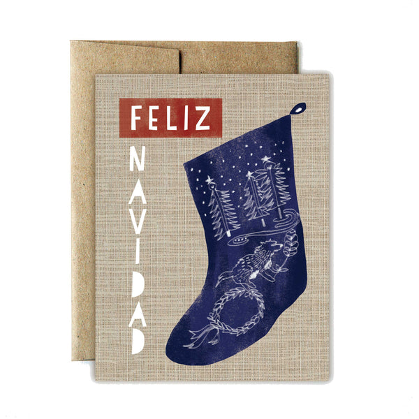 Feliz Navidad Stocking Boxed Set - Ferme à Papier