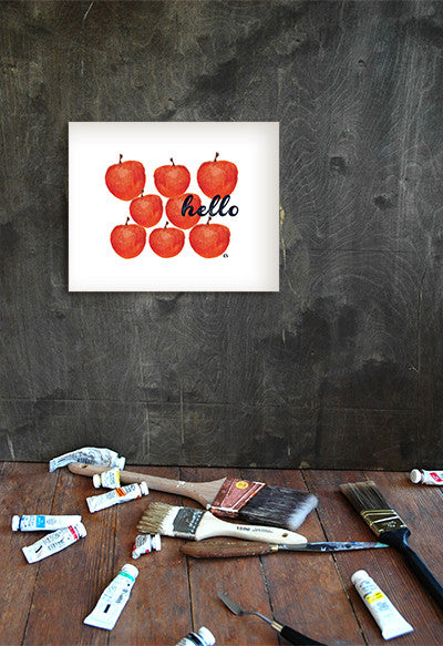 Apples hello art print - Ferme à Papier  - 1
