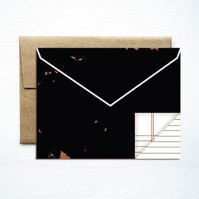 Envelope black card - Ferme à Papier