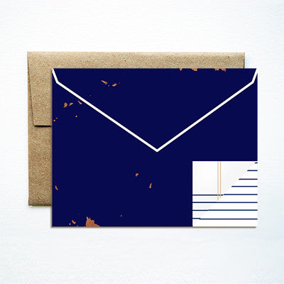 Envelope navy card - Ferme à Papier