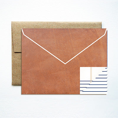 Envelope tan card - Ferme à Papier