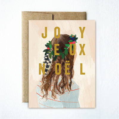 Foil Joyeux Noel Feather Girl Set - Ferme à Papier