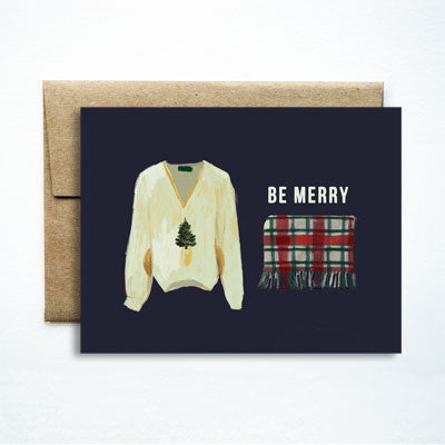 Be Merry Sweater & Blanket Set - Ferme à Papier