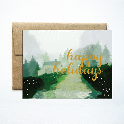 Foil Happy Holidays Wintry Lane - Ferme à Papier