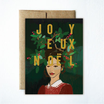 Foil Joyeux Noel Wreath Girl Set - Ferme à Papier