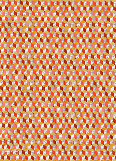 French melon tile gift wrap sheet - Ferme à Papier