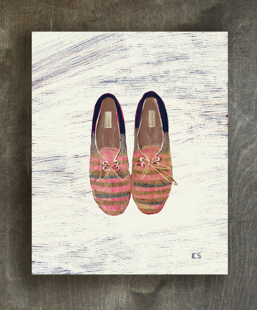 Summer shoes art print - Ferme à Papier