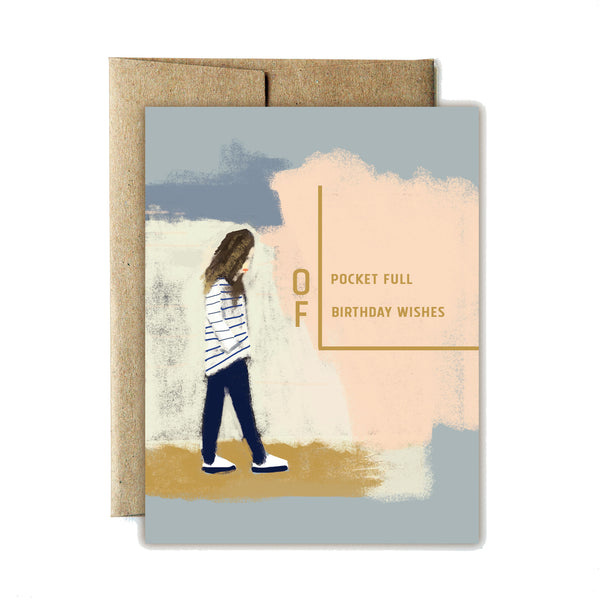 Pocket full of birthday wishes card - Ferme à Papier