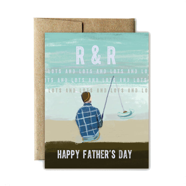 R&R fishing father's day card - Ferme à Papier