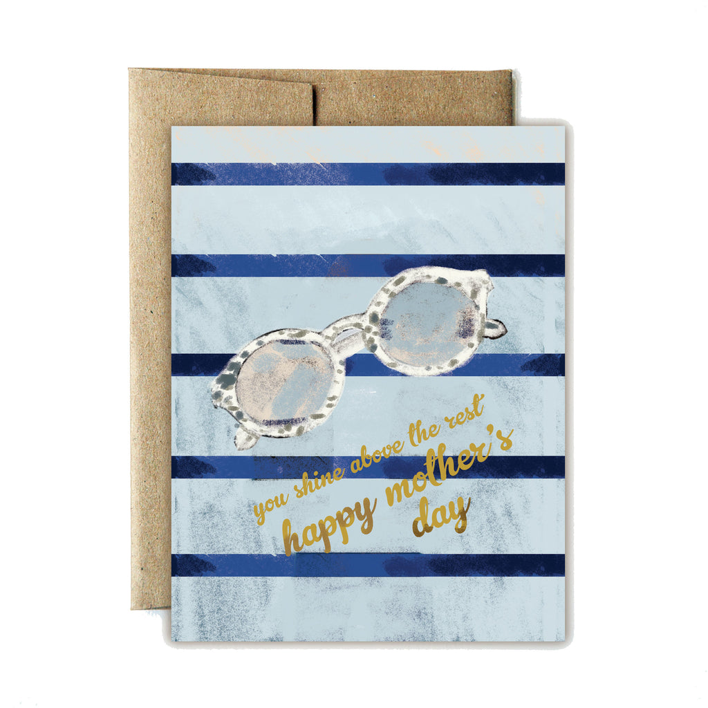 Sunglasses shine mother's day card - Ferme à Papier