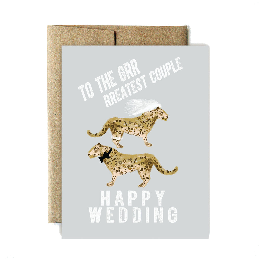 Greatest couple wedding card - Ferme à Papier