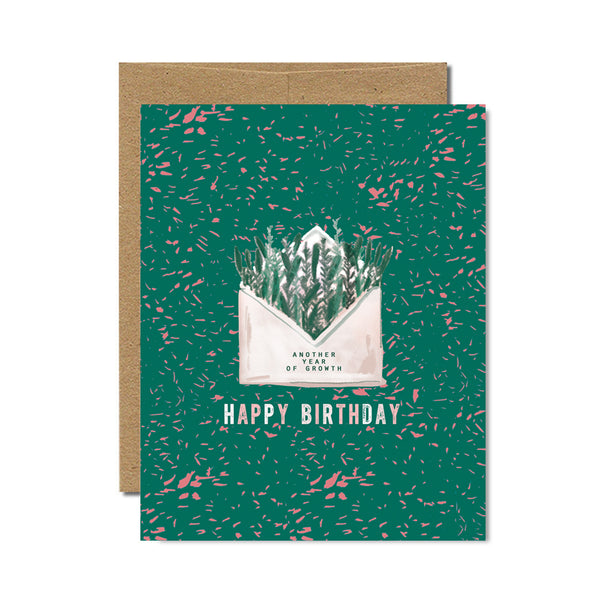 Happy Birthday envelope card - Ferme à Papier