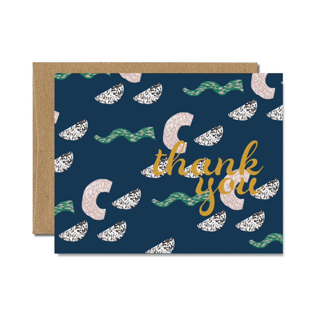 Foil memphis haus thank you card - Ferme à Papier
