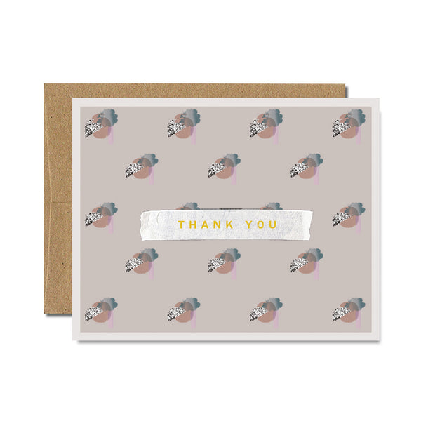 Foil grey bauhaus thank you card - Ferme à Papier